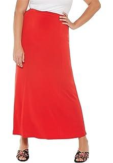 016a1e2cb0 Jessica London Women's Plus Size A-Line Jegging Skirt at Amazon ...