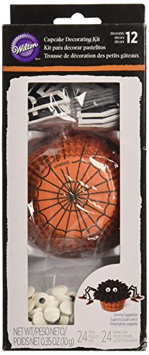 Wilton 415-3264 Spider Cupcake Decorating Kit, (Wilton Halloween Cupcake Kits)