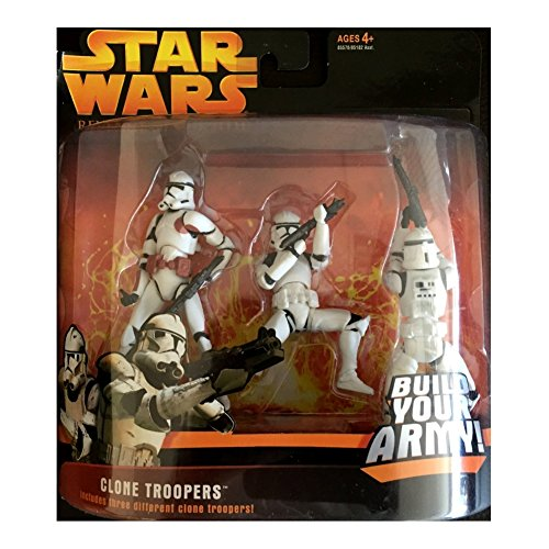 Star Wars Revenge of the Sith Clone Trooper Red Rust Variant Army 3-Pack Deluxe Figure