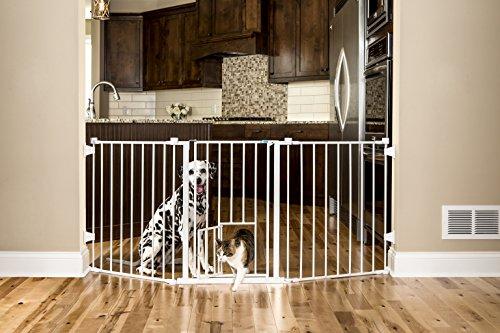 Carlson 76 Inch Wide Flexi Configurable Walk Through Pet Gate ()
