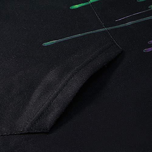 RAISEVERN Spring Autumn Kids Clothes Girls Boys Sport Sweatshirt Hoodies Unisex Long Sleeve Pullover for Casual Wear Black X-Large