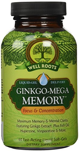 Well Roots Ginkgo Mega Memory Supplement product image