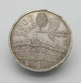 Desconocido Moneda De Plata De 2000 Pesetas Del Año 1994 Juan Carlos I Amazon Es Juguetes Y Juegos