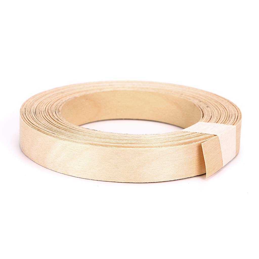 Skelang Maple 3/4'' X 50' Roll Wood Veneer Edge Banding Preglued Iron On with Hot Melt Adhesive Edgebanding Flexible Wood Tape