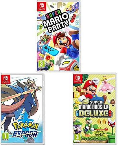 New Super Mario Bros. U Deluxe + Super Mario Party + Pokémon ...