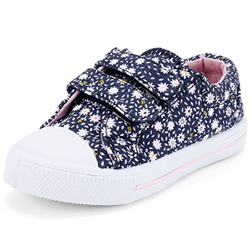 Image of KomForme Toddler Sneakers Boys Girls Cartoon Dual Hook and Loops Sneakers Baby Canvas Shoes