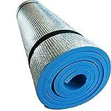 EVA Foam Extra Thick Camping Picnic Pad Yoga Mat Exercise Sleeping Outdoor Mattress Beach Cushion--blue