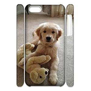 AKERCY Goldren Retriever Phone 3D Case For Iphone 5C [Pattern-3]