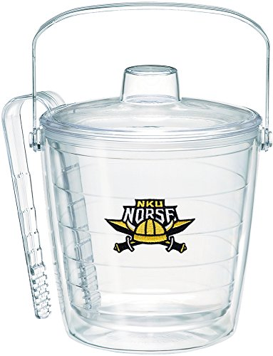 (Tervis 1235861 Northern Kentucky Norse Logo Insulated Ice Bucket and Tongs with Emblem and Clear Lid-Boxed, 87oz)