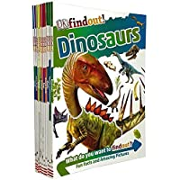 DK Findout! Series with Fun Facts and Amazing Pictures 10 Books Collection Set (Animals, Science, Dinosaurs, Human Body…