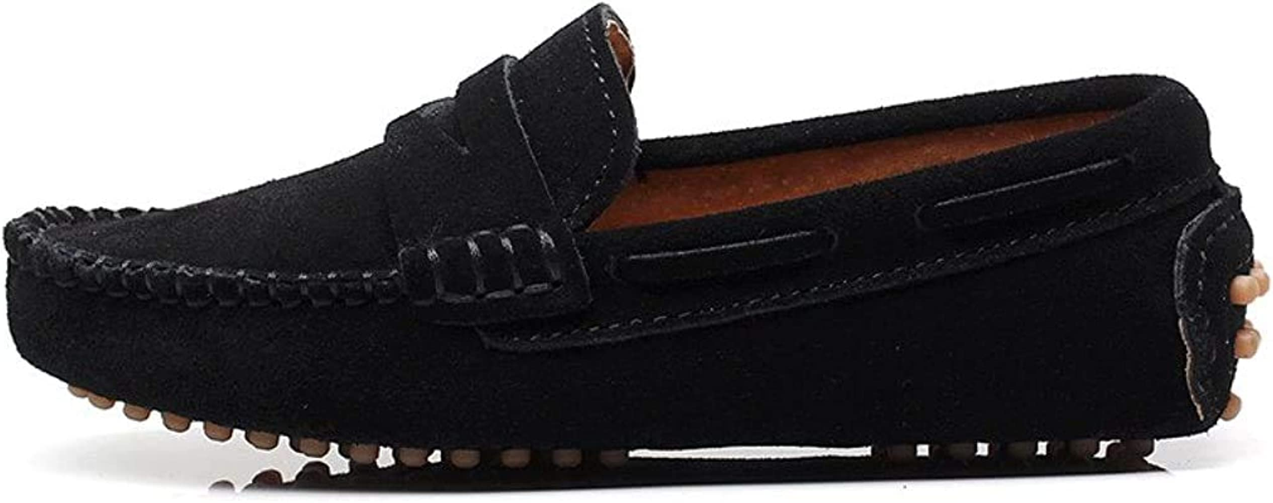 Black Suede Leather Loafers Shoes S8884