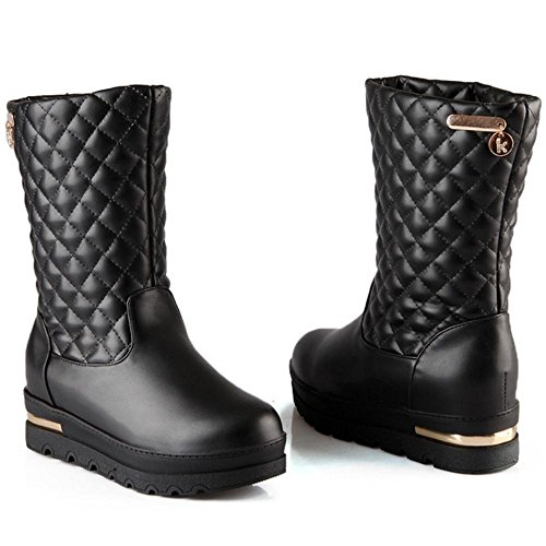 Coolcept Women Boots Pull On Hidden Heel Black 8XwZJq6xwP