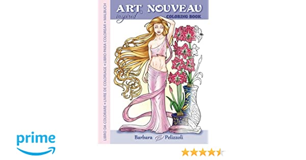 Amazon.com: Art Nouveau Inspired Coloring Book: Libro da colorare ...