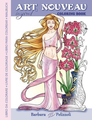 Pdf art nouveau inspired coloring book libro da colorare - Sirena libro da colorare ...
