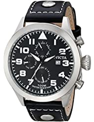 Invicta Mens 0350 II Collection Black Leather Watch