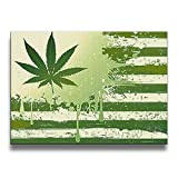 weed pictures - FORBIG USA Flag Weed Design Art Print Wall Picture Decorative Painting 16