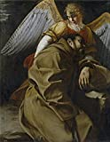 Oil Painting 'Gentileschi Orazio Lomi De San Francisco Sostenido Por Un Angel Ca. 1607' 30 x 39 inch / 76 x 99 cm , on High Definition HD canvas prints, gifts for Bath Room, Bed Room And Game decor