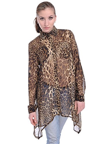 cheetah print dress long sleeve - 5