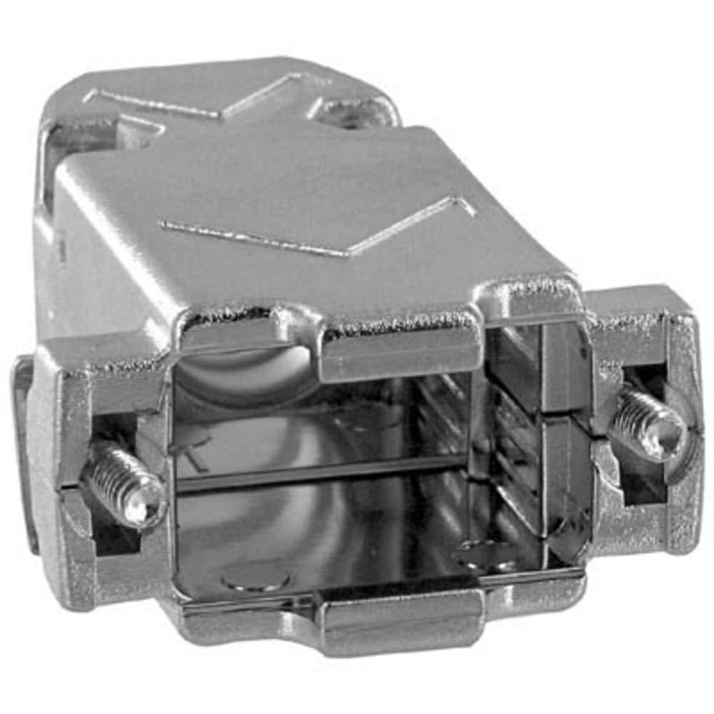 Hood; D-Sub; 9STDPos; 15HDPos; STRExit; 17E Series; MetallizedPlastic; 0.400In.CblDia, Pack of 10