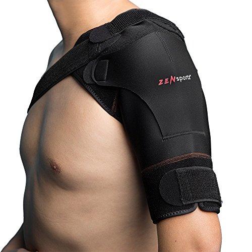 Zen Sportz Copper-Infused Shoulder Support Brace Compression - Women or Men - Rotator Cuff Support for Injury Prevention, Dislocated AC Joint, Labrum Tear, Sprains, Soreness, Bursitis, Tendinitis - (Shoulder Stabilization Brace)
