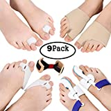 Makartt Bunion Corrector & Bunion Relief Kit 9 in 1 Orthopedic Bunion Corrector Treat Pain in Hallux Valgus- Bunion Pads, Splint, Bootie, Protector, Guard for Men and Women