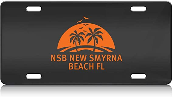 Custom Brother - NSB New Smyrna Beach FL Bl. Decorative Steel Auto SUV Tag