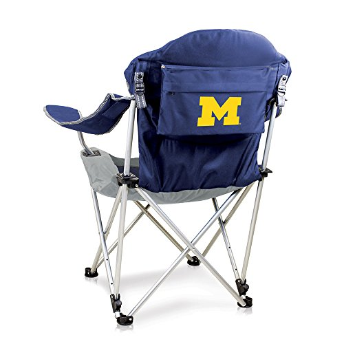 NCAA Michigan Wolverines Reclining Camp Chair, Navy