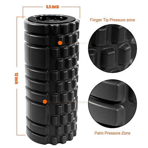 E Spark Medical Foam Roller For Muscle Massage and Exercise, Fitness Rollers For Stretching, Tension Release, Yoga &Pilates