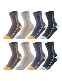 SUNBVE Kids Boys Girls Cotton Athletic Crew Socks