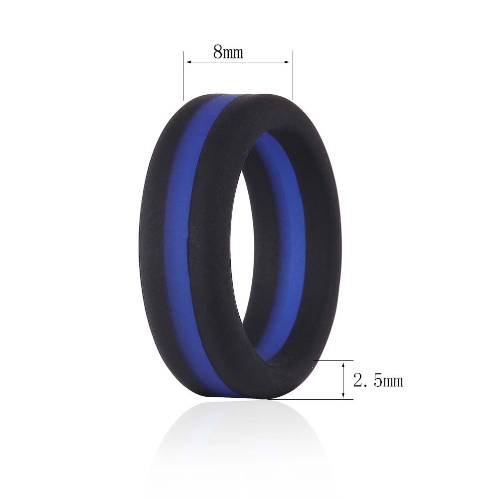 Amazon Simpleonly Silicone Wedding Bands With Blue Red Black Gunmetal Thin Line For Men Sports Outdoors: Gunmetal Thin Wedding Band At Reisefeber.org