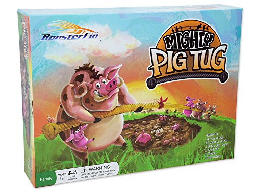 Mighty Pig Tug Family Board Game – Card Game of Tug of War with a Team – Teacher Created Educational Fun for All Kids and Adults 7 and Up