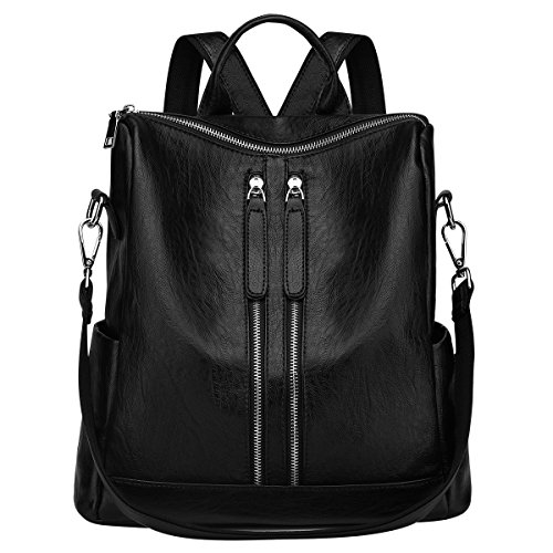 Newshows Lightweight Women PU Leather Backpack Shoulder Bag Casual Purse