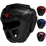 RDX Maya Hide Leather Boxing MMA Protector Headgear UFC Fighting Head Guard Sparring Helmet