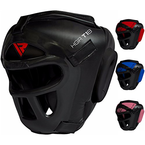 RDX Head Guard Maya Hide Leather Boxing Headgear MMA Protector Headgear UFC Fighting Sparring Helmet