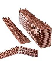 اشواك واقية مضادة بلاستيكية لطرد الطيور والحمام والقطط والراكون للسياج وسقف الجدار من كيوتيه - 20 قطعة (20 قدم)
