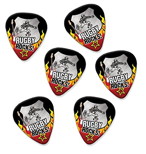 (Rugby Rocks 6 X Guitar Picks Plectrums (R1))