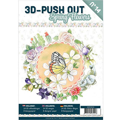 Find It Trading 3D Push Out Toppers - Spring Flowers - with Coordinating Backgrounds 3DP010014