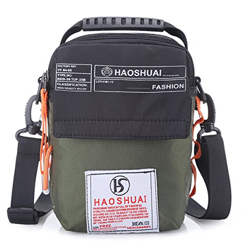 (JAKAGO Waterproof Shoulder Bag Universal Small Messenger Bag Handbag Mobile Phone Pouch Cross Body Bag Purse with Shoulder Strap for Outdoor Sport Travel Hiking Camping (Green))
