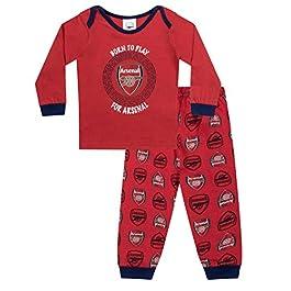 Arsenal FC Official Football Gift Boys Kids Baby Pyjamas