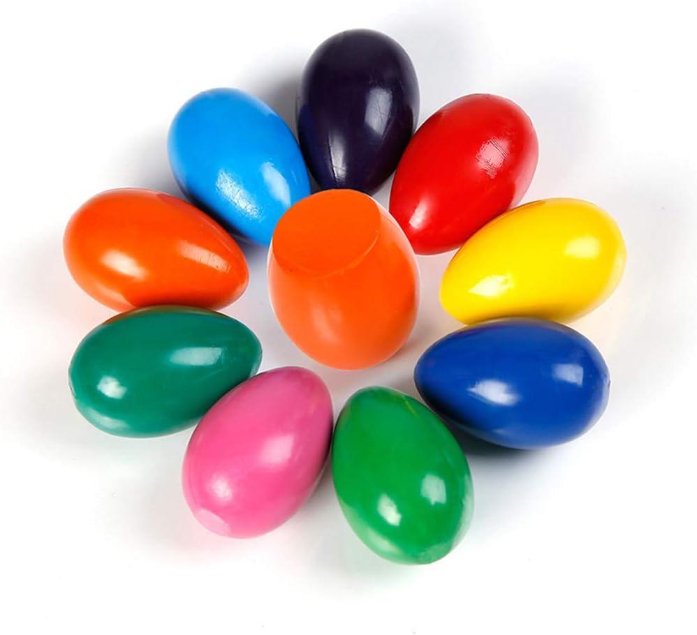 no t/óxico Aprendizaje escolar Juguetes de dibujo 9Colores Supvox Crayones para ni/ños Grip en forma de huevo