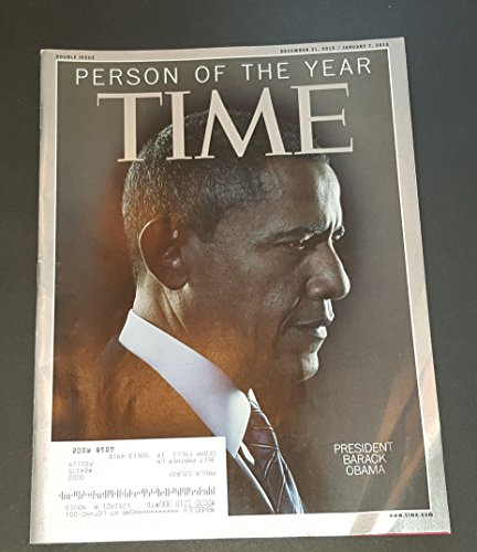 Time Magazine December 31 2012 - January 7 2013 President Barack Obama Cover (Person of the Year)