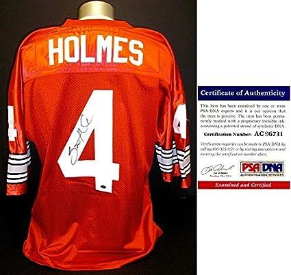 super popular 3e3b7 3a934 Santonio Holmes Signed - Autographed Red Custom Jersey ...