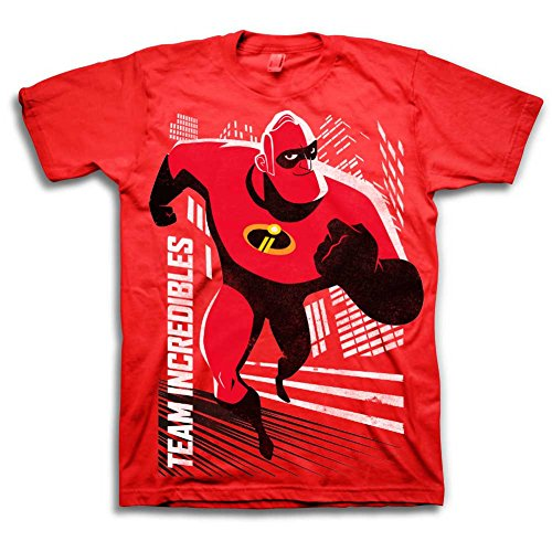 Disney Pixar The Incredibles Shirt - Boys Team Incredible T-Shirt - Red Team Incredibles Tee Shirt Featuring Bob Parr (7)