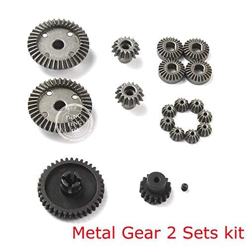 FidgetGear Upgrade Metal Gear 2 Set Kit for Wltoys 1/18 A949 959 969 979 K929-B RC Car Part from FidgetGear