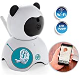 Wireless 720P Security Camera by JEZBO + 1.5M EXTENSION CORD BUNDLE - Indoor Home Surveillance System with Wifi, Motion Detector, Baby, Pet, Nanny Cam Monitor, Infrared, Cute Panda