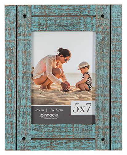 Pinnacle Frames and Accents 5 X 7 Rustic Turquoise Frame, Bl