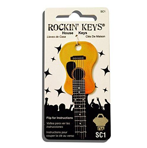 Acoustic Guitar Shaped Rockin' Key Schlage (House Shaped Key)