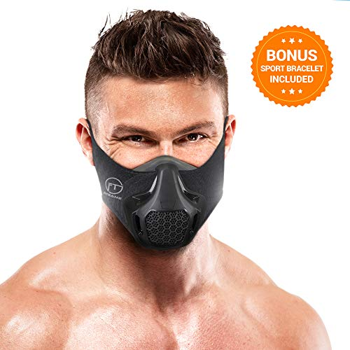 FITGAME Workout Mask | 24 Breathing Resistance Levels - Fitness Mask | Training in High Altitude Simulation - Increase Cardio Endurance | Bonus Sport Bracelet and Box Included
