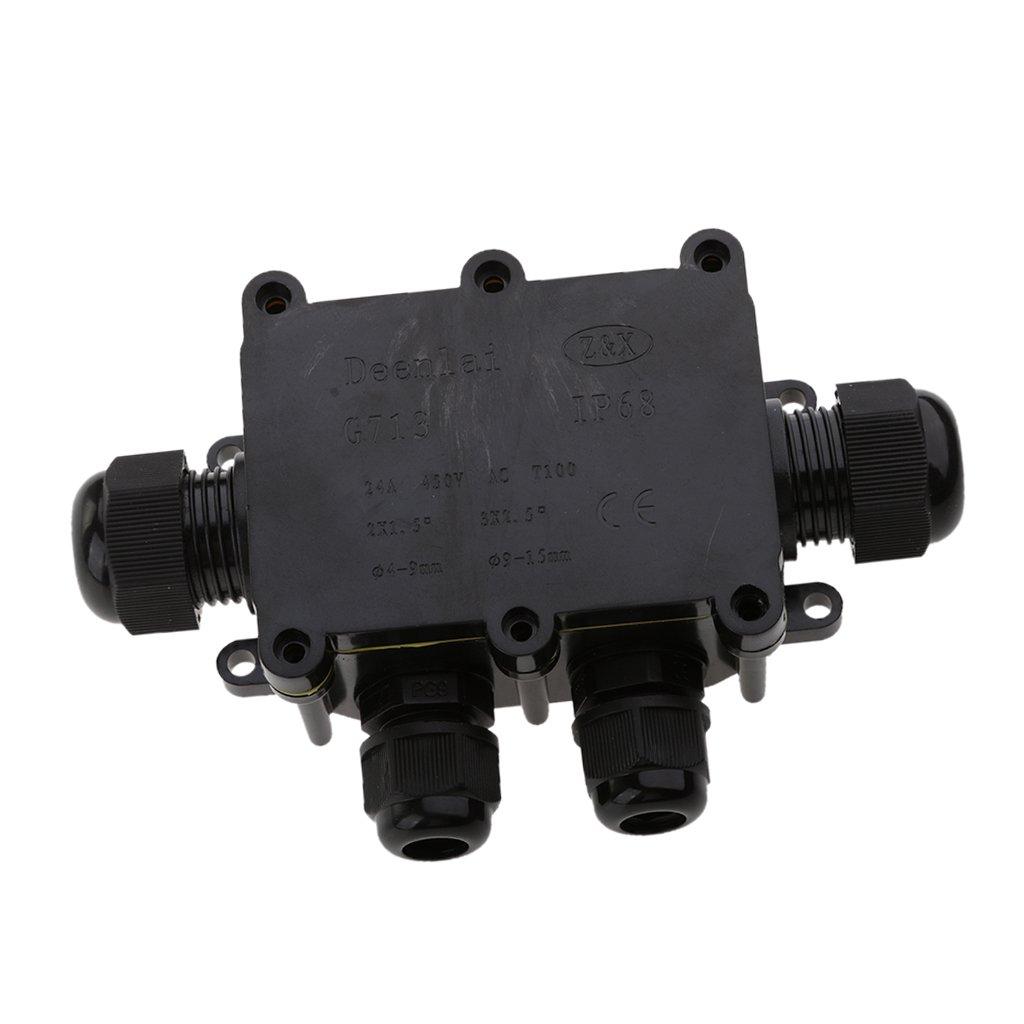 Sharplace G713 6 Voies Ext/érieur Bo/îte De Junction /Étanche /à leau IP68 Connecteurs De C/âble Souterrains 4 Voie