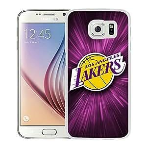 New Custom Design Cover Case For Samsung Galaxy S6 LA lakers 1 White Phone Case